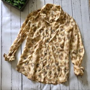 "J. Crew ""Perfect Shirt"" Animal Print Button Down"